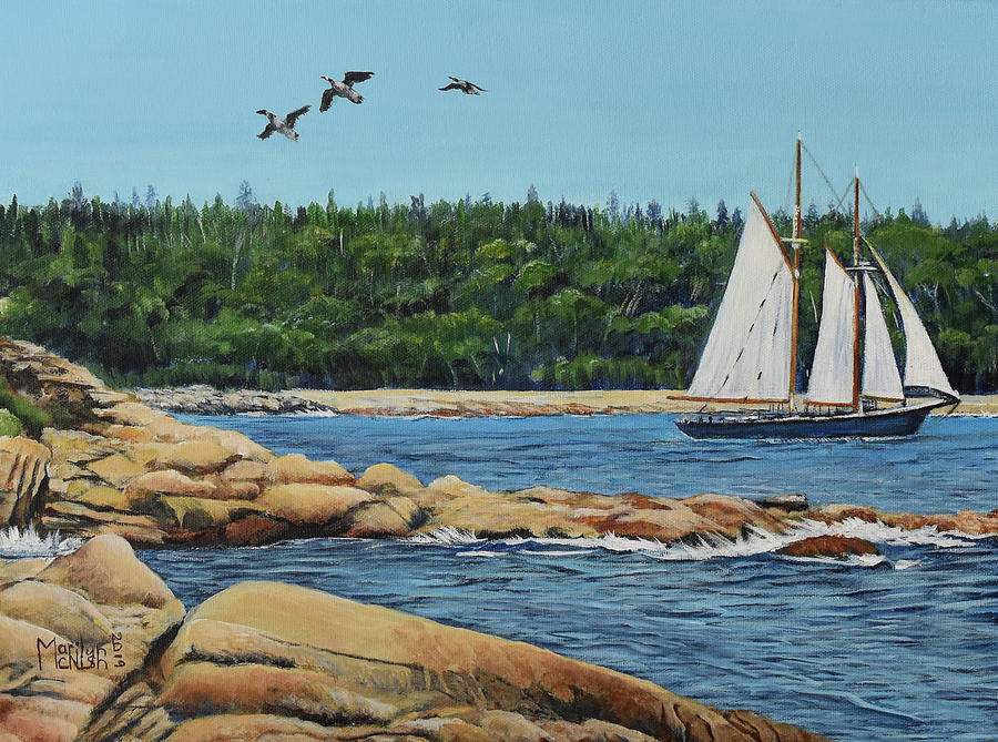 Bluenose II Sailing by Marilyn McNish