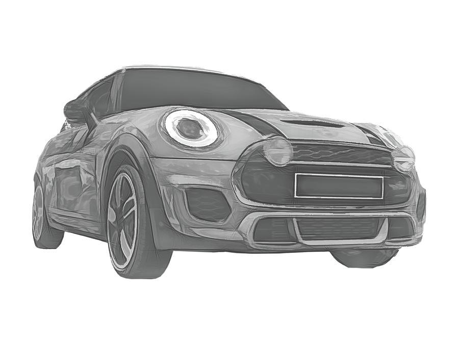 BMW Mini Cooper >> Bmw Mini Cooper Digital Sketch