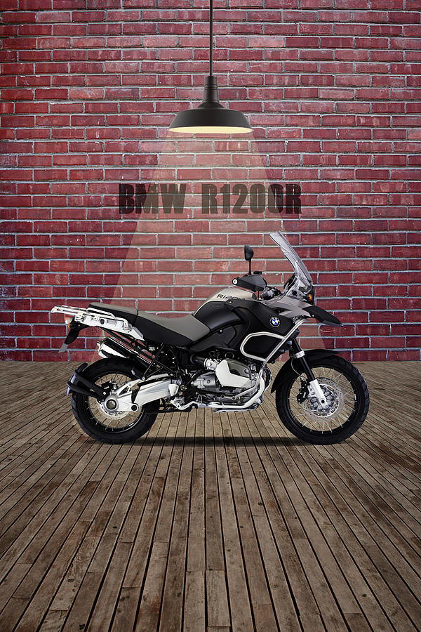 Bmw Mixed Media - Bmw R1200r Red Wall by Smart Aviation