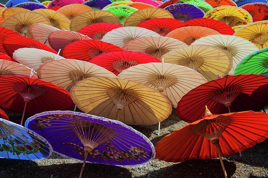 Chiang Mai Photograph - Bo Sang Umbrellas, Thailand by Ian Robert Knight