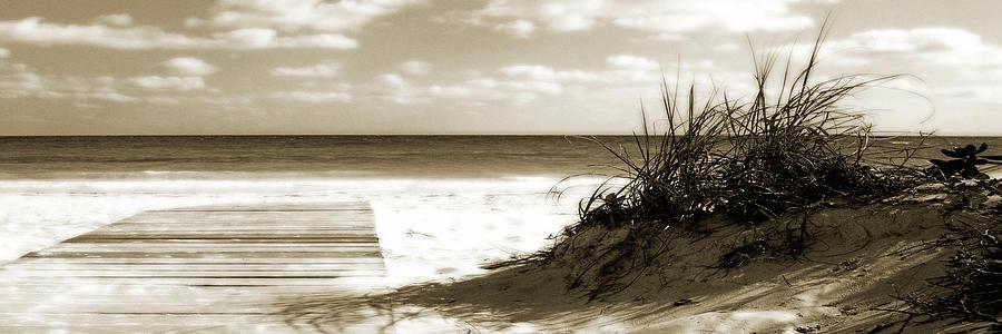 Seascapes Photograph - Boardwalk Shadows by Noah Bay