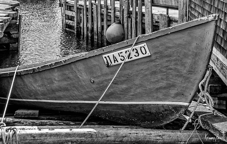 2008 Digital Art - Boat At Fishermans Cove by Ken Morris
