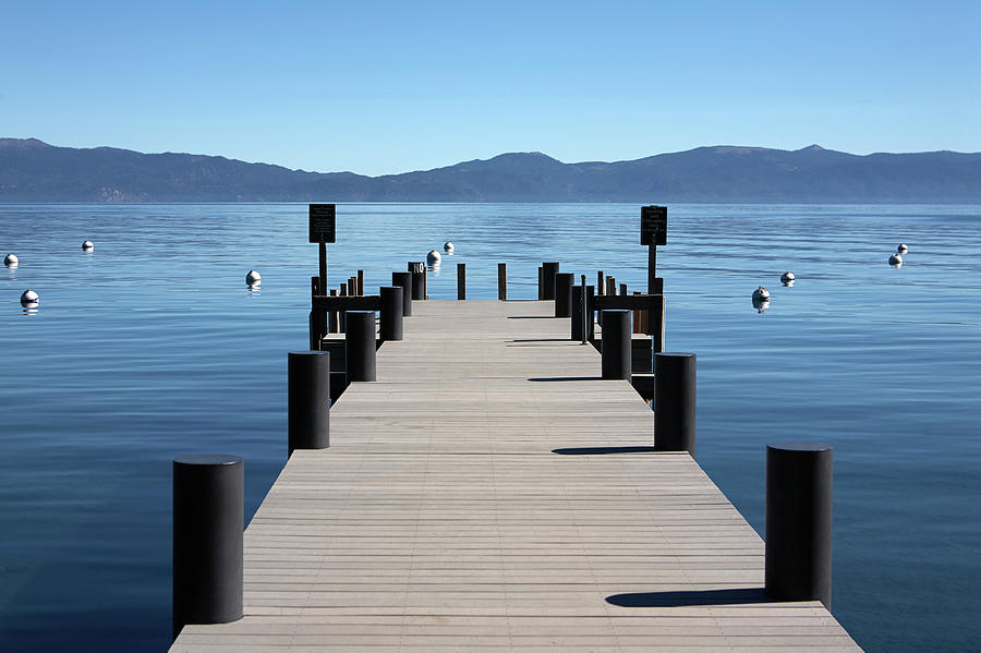 Boat Dock Pier Out To Lake Tahoe And Photograph by Jason Todd