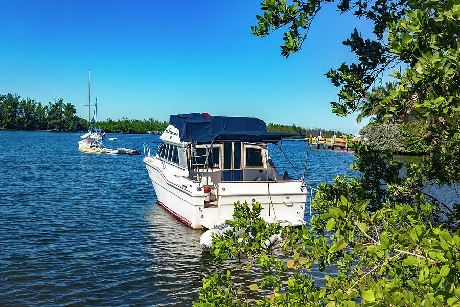 Boat in Harbor Series 8203 by Carlos Diaz