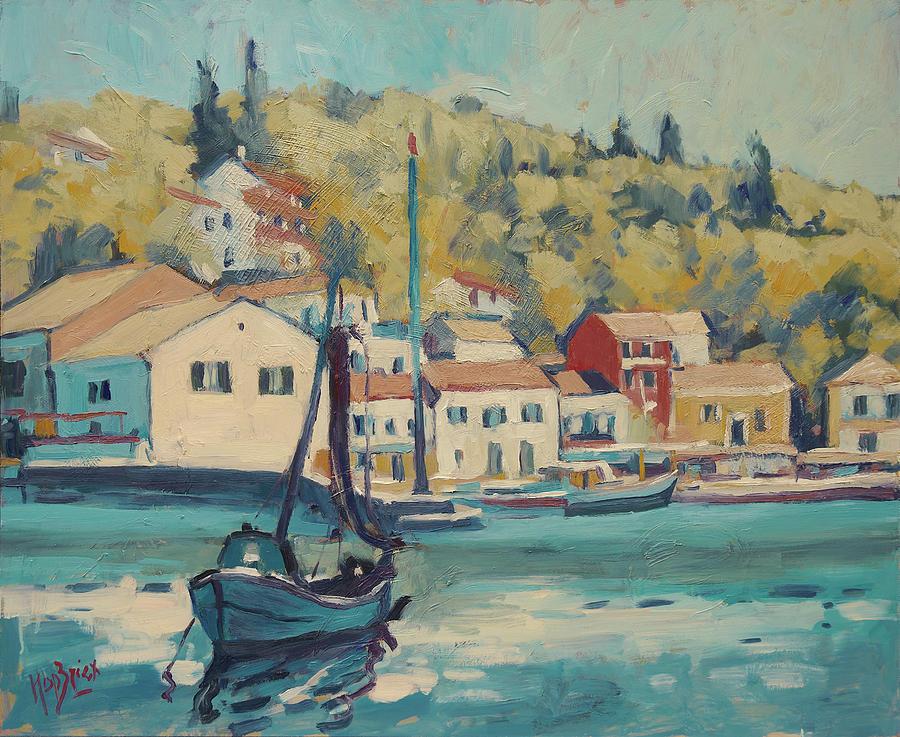 Boat of Albert in Loggos harbour by Nop Briex