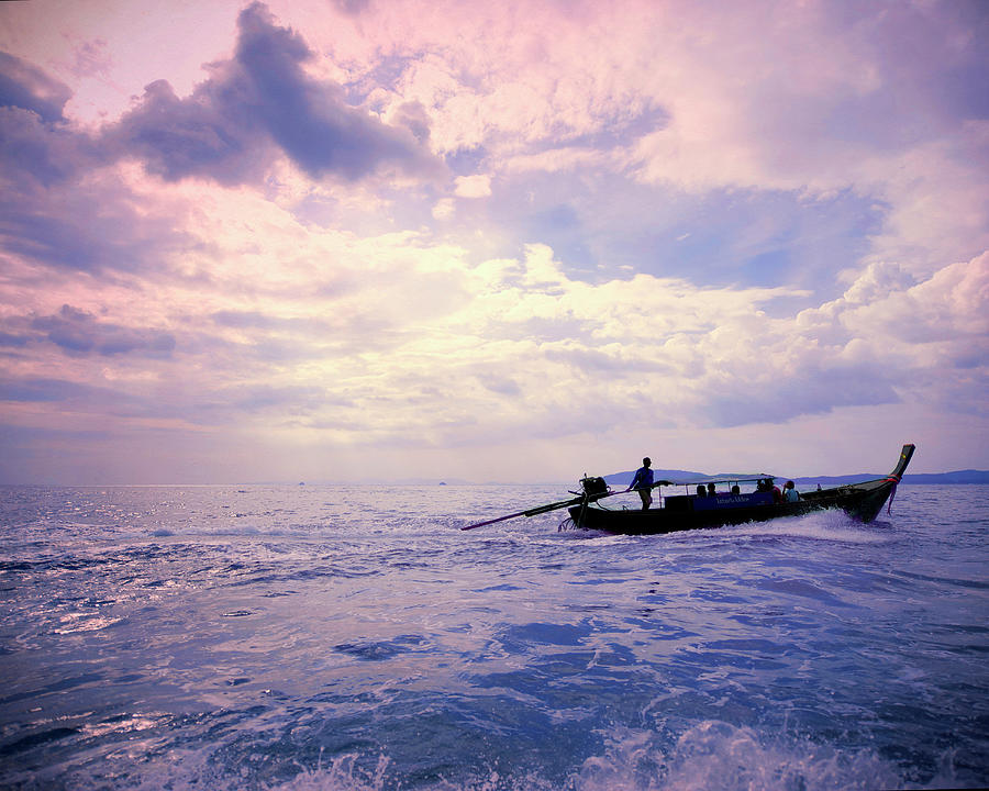 Boat On Ocean Photograph by Sharon Lapkin
