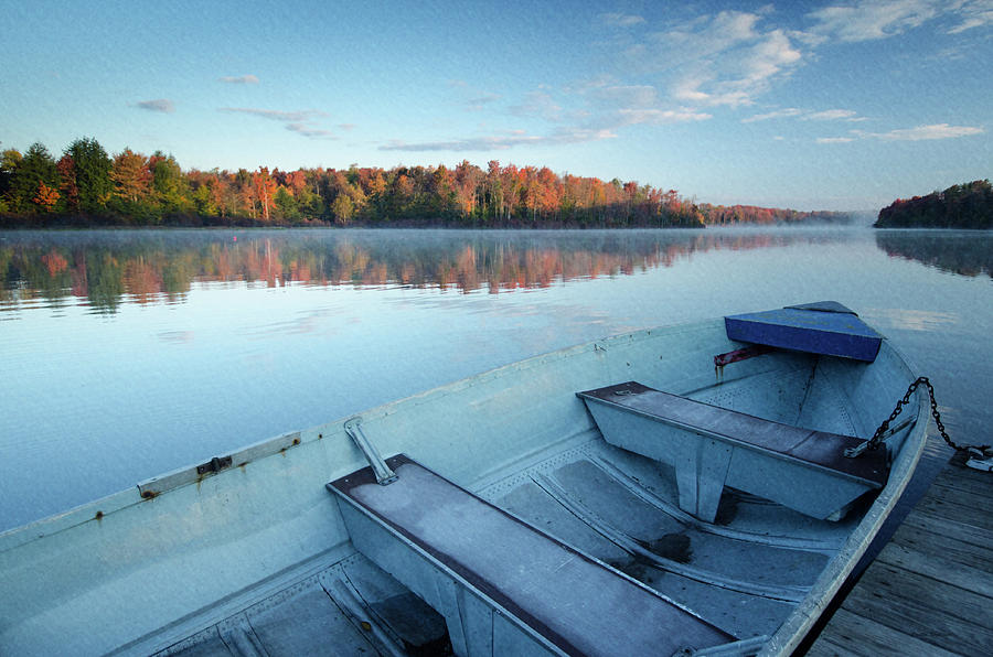 Boat on the Lake by Crystal Wightman