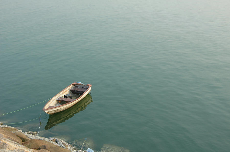 Boat Over The Sea Photograph by Bluekite