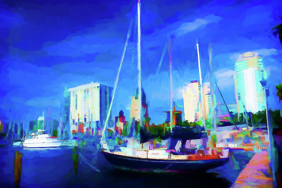 Boat Painted Series 9044 by Carlos Diaz