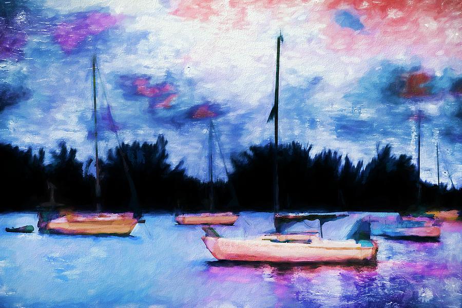 Boat Painting Series 8883 by Carlos Diaz