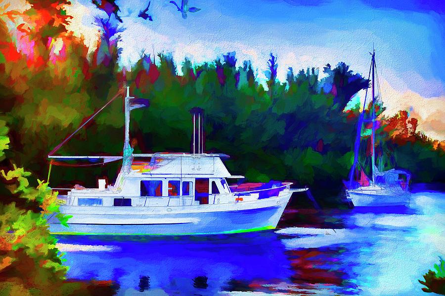 Boat Painting Series 8892 by Carlos Diaz
