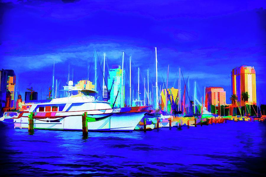 Boat Painting Series 9055 by Carlos Diaz