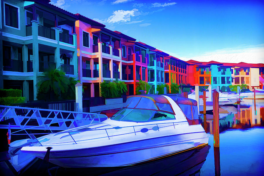 Boat Painting Series 9198 by Carlos Diaz