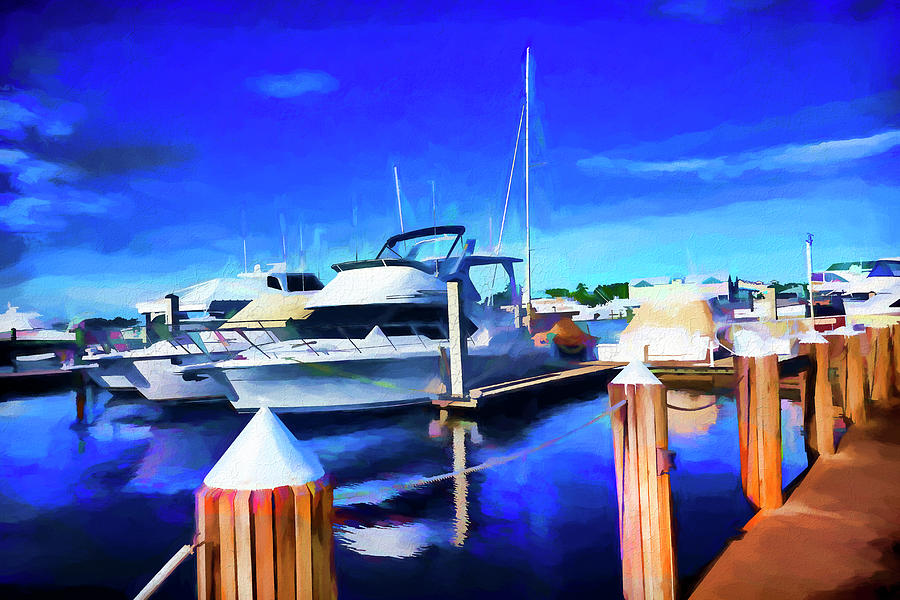 Boat Painting Series 9294 by Carlos Diaz