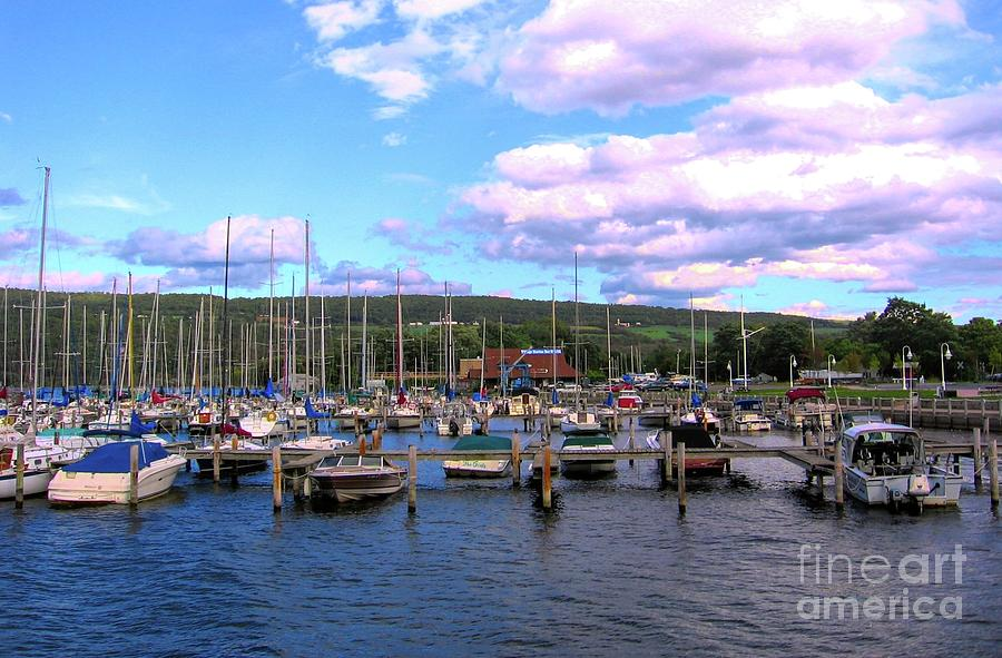 Boat Piers at Seneca Lake NY in the Finger Lakes Region by Rose Santuci-Sofranko