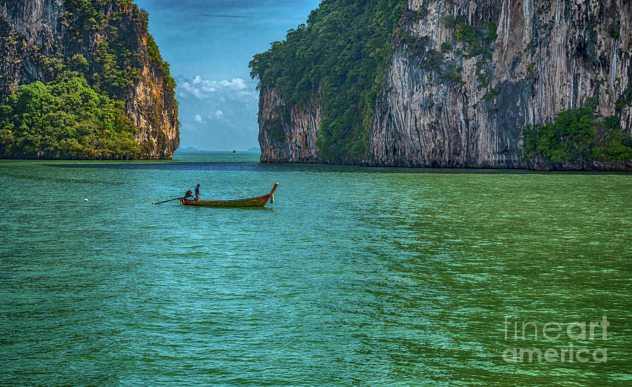 Landscape Digital Art - Boat by Pravine Chester