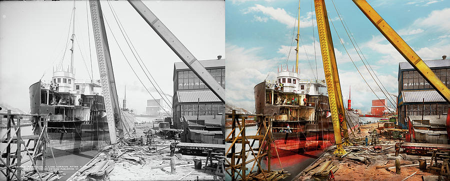 Boat - Repair - From death to berth 1905 - Side by Side by Mike Savad