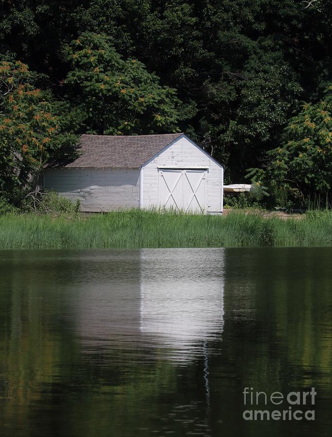 Boathouse Reflection by Karen Silvestri