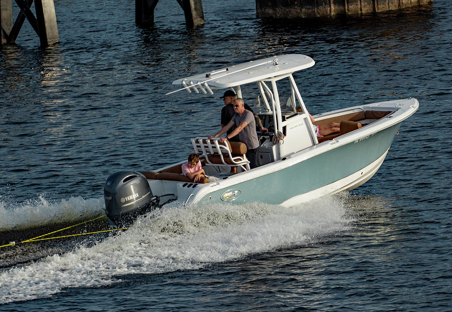 Boating in the Tampa Channel 1 by Margaret Zabor