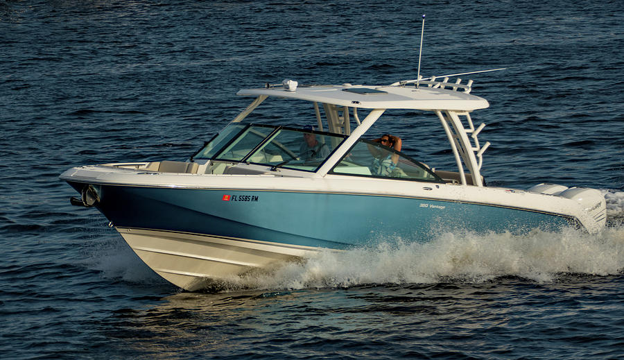 Boating on the Tampa Channel 2 by Margaret Zabor