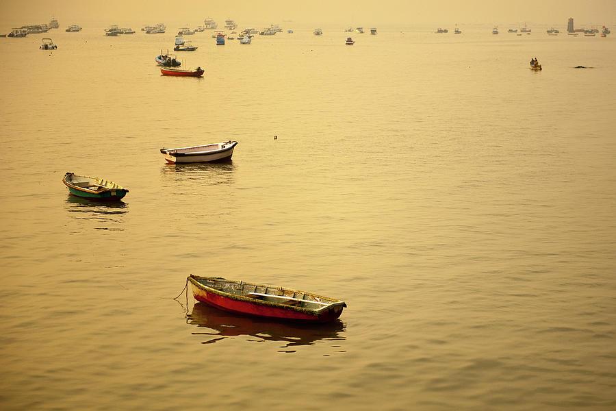 Boats At Arabian Sea Photograph by Photograph By Jayati Saha