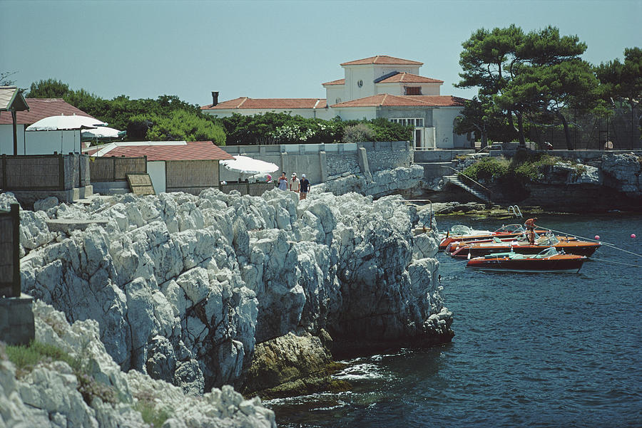 Boats At Hotel Du Cap-eden-roc Photograph by Slim Aarons