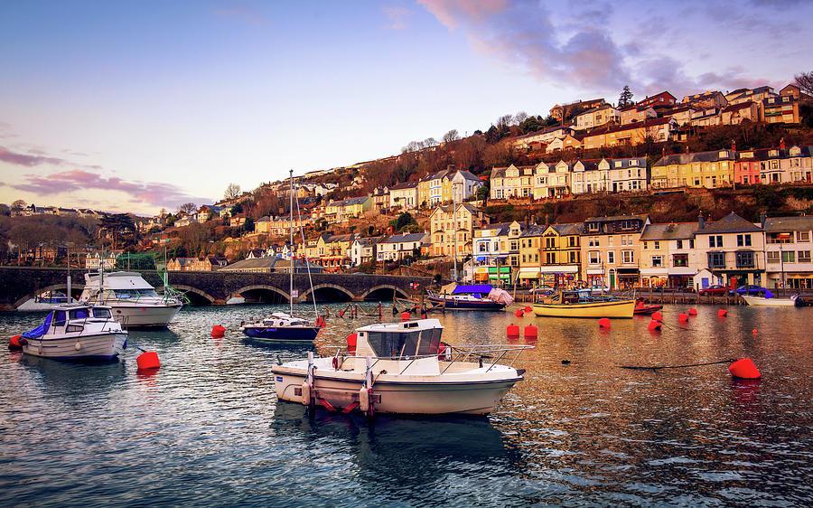 Boats At Looe, Cornwall, England Photograph by Joe Daniel Price