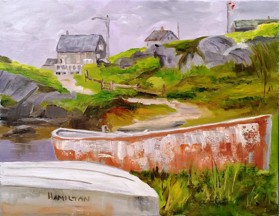 Boats at Peggy's Cove by Larry Hamilton