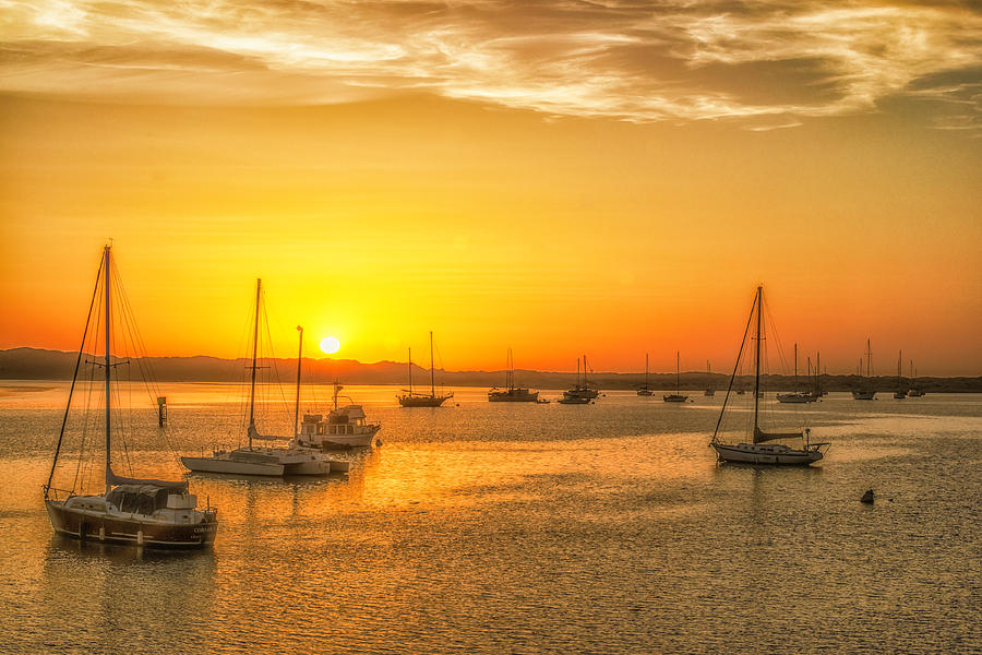 Boat Photograph - Boats At Sunset by Fernando Margolles