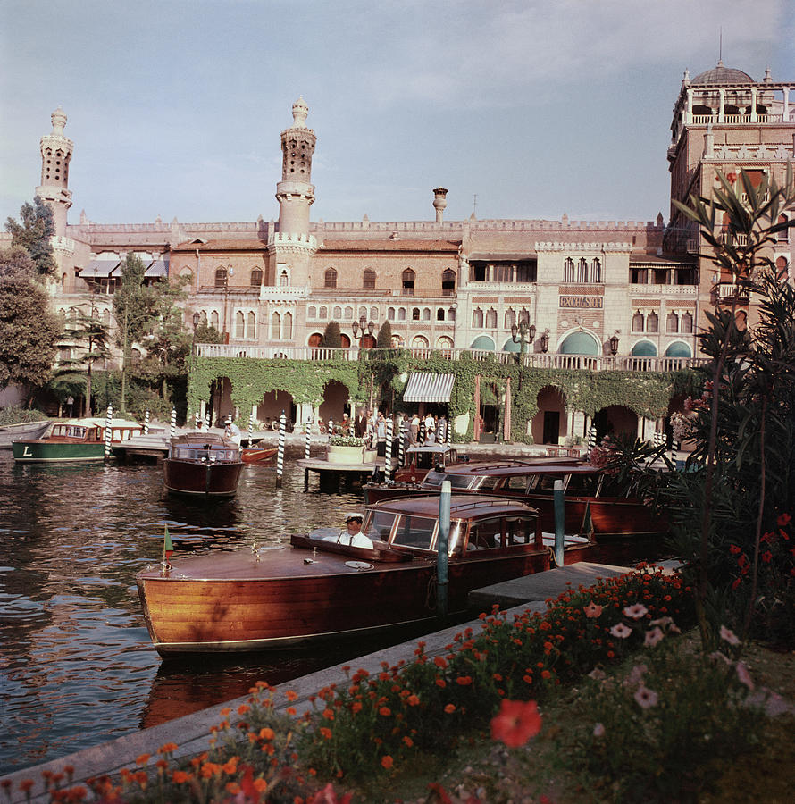 Boats Before The Excelsior Photograph by Slim Aarons