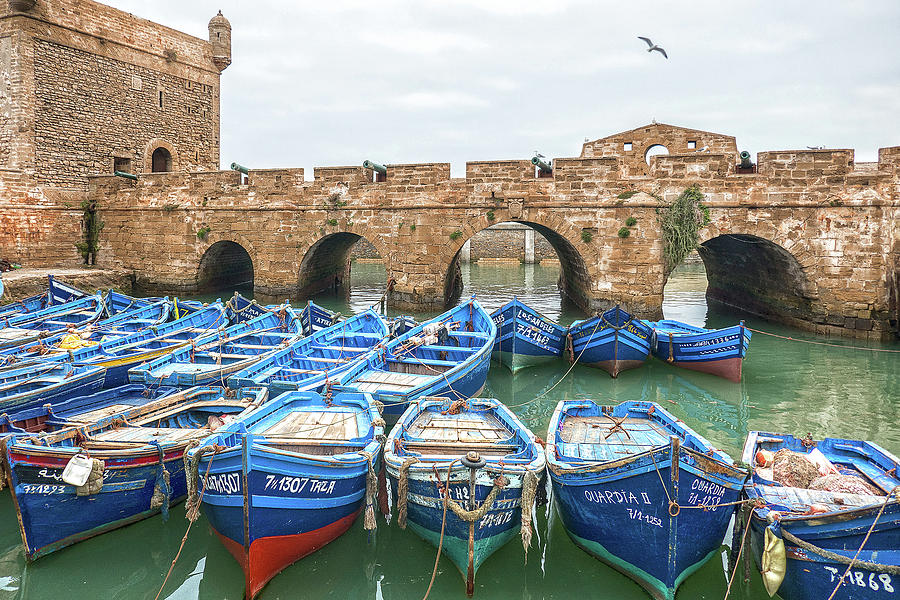Boats in Essaouira by Photos By Pharos