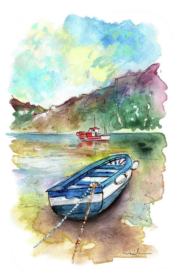 Boats In Ezaro In Galicia 02 by Miki De Goodaboom