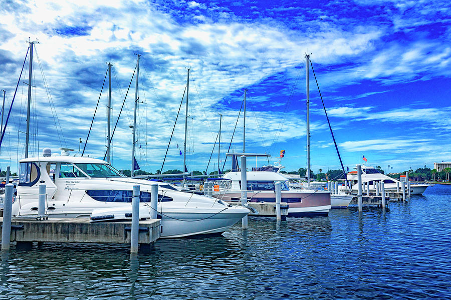 Boats in Harbor Series 9094 by Carlos Diaz