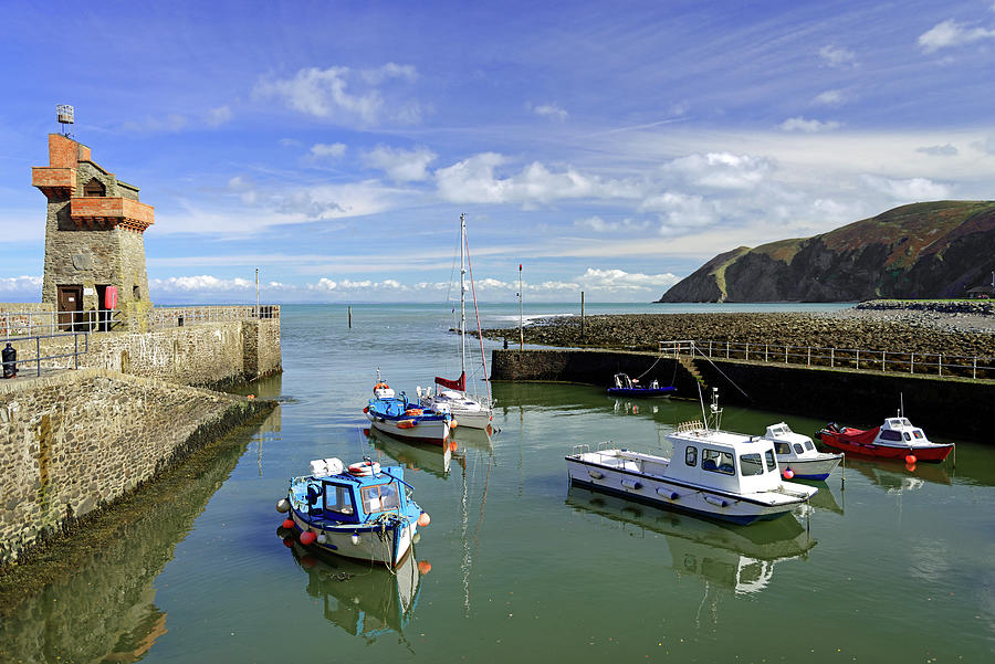 Boats In Lynmouth Harbour by Rod Johnson