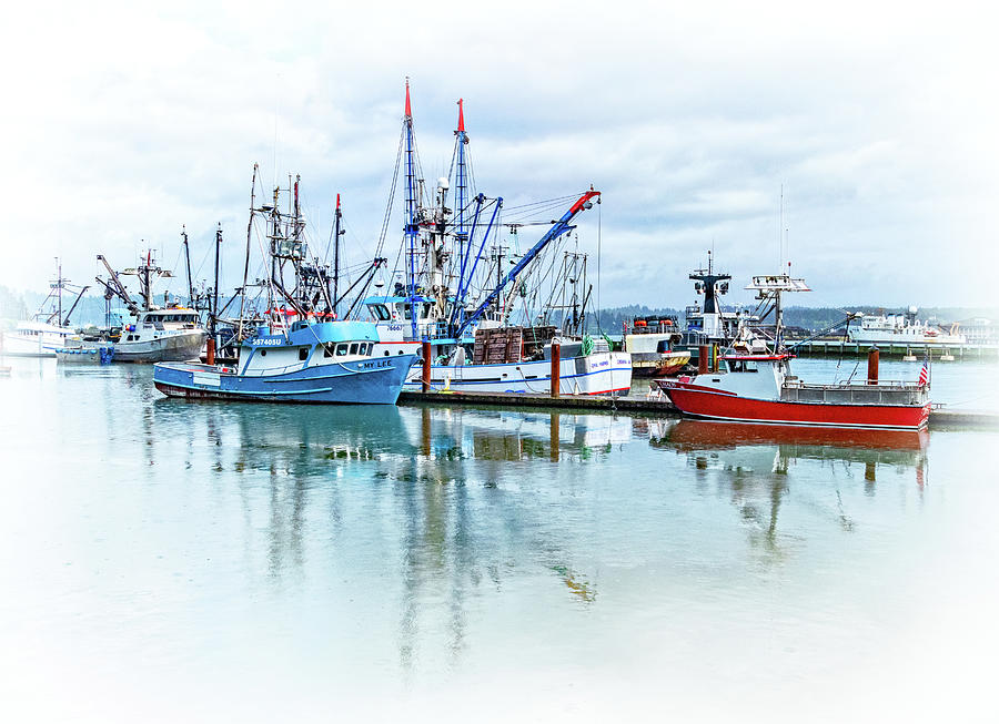 Boats in Newport Harbor by Carolyn Derstine