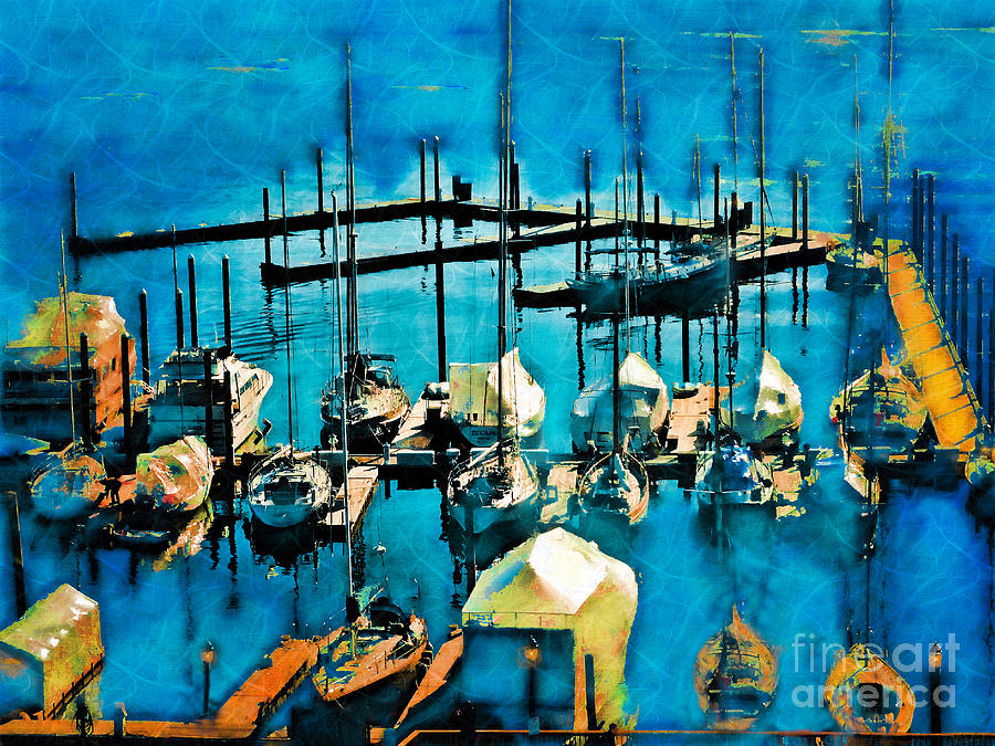 Boats In The Harbor by Jeff Breiman