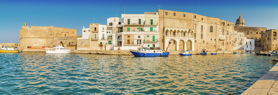 boats in the marina of Monopoli by Gone With The Wind