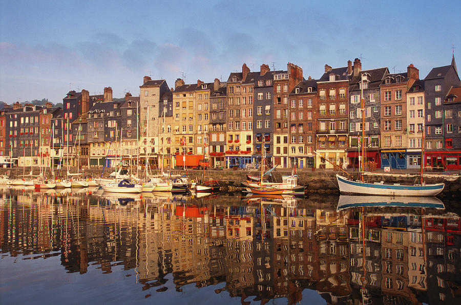 Boats Moored At The Old Dock, Honfleur Photograph by Robertharding