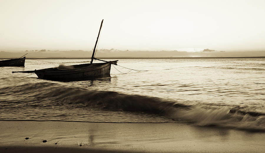 Boats Moored In Shallow Water Photograph by Cultura Rm Exclusive/led