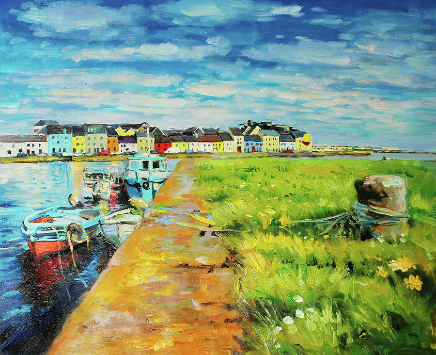 Boats Moored at The Claddagh by Conor McGuire