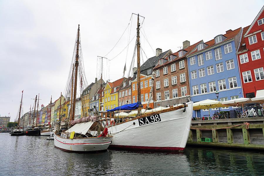 Boats Of NyHavn In Copenhagen Denmark by Richard Rosenshein