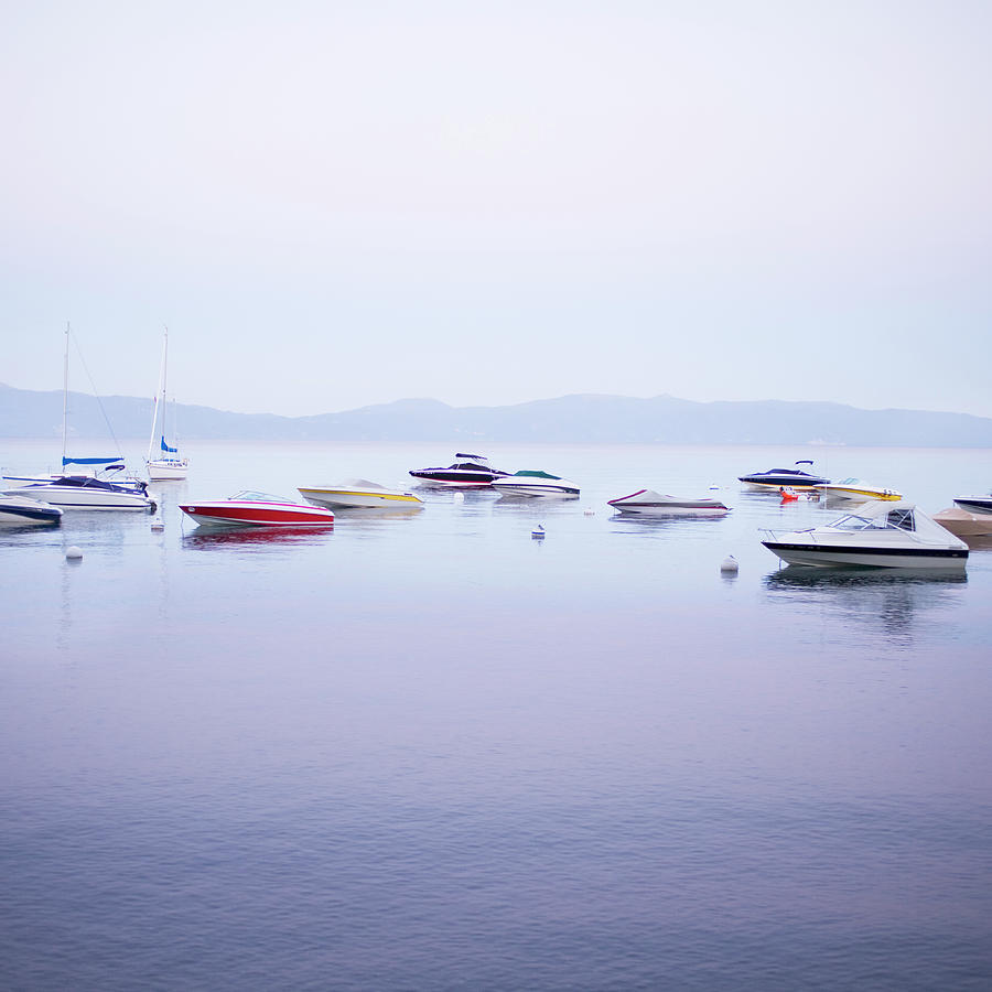 Boats On Lake Tahoe Photograph by Sean Justice