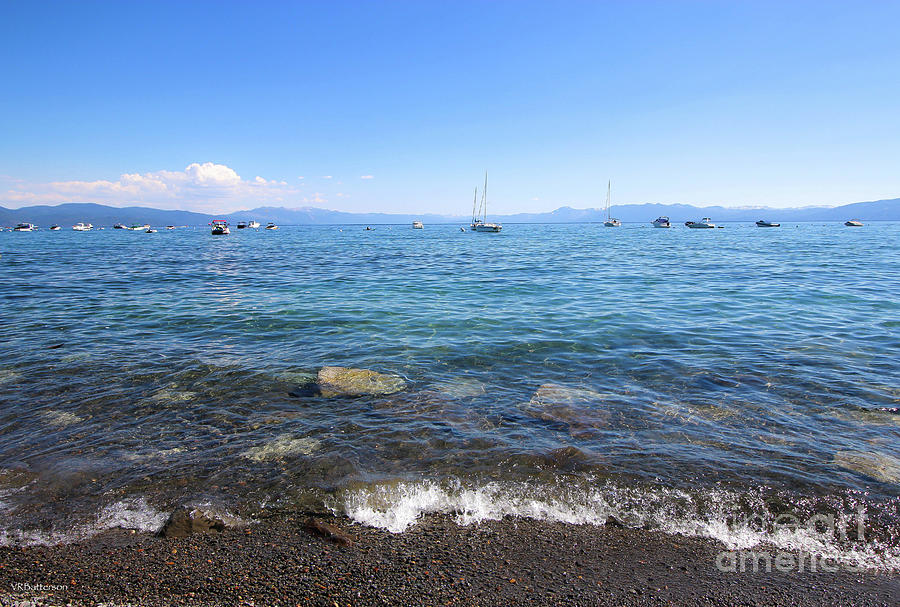Boats on Lake Tahoe by Veronica Batterson