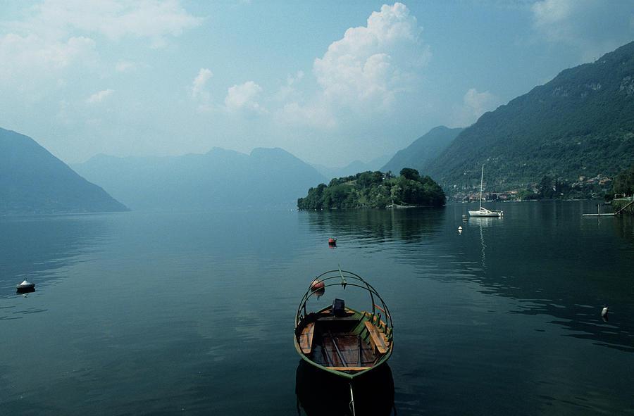 Boats On Lake, Tremezzo, Lake Como Photograph by Andy Sotiriou
