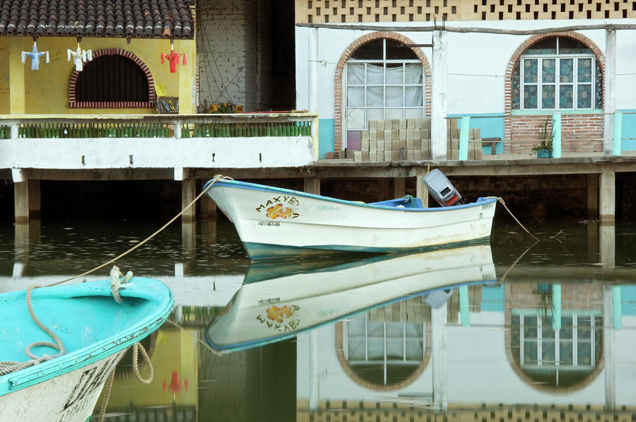 Boats On Still Lagoon Photograph by Blind Dog Photo Dan Gair