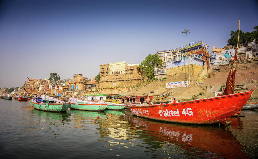 Boats On The Ganges by Gary Gillette