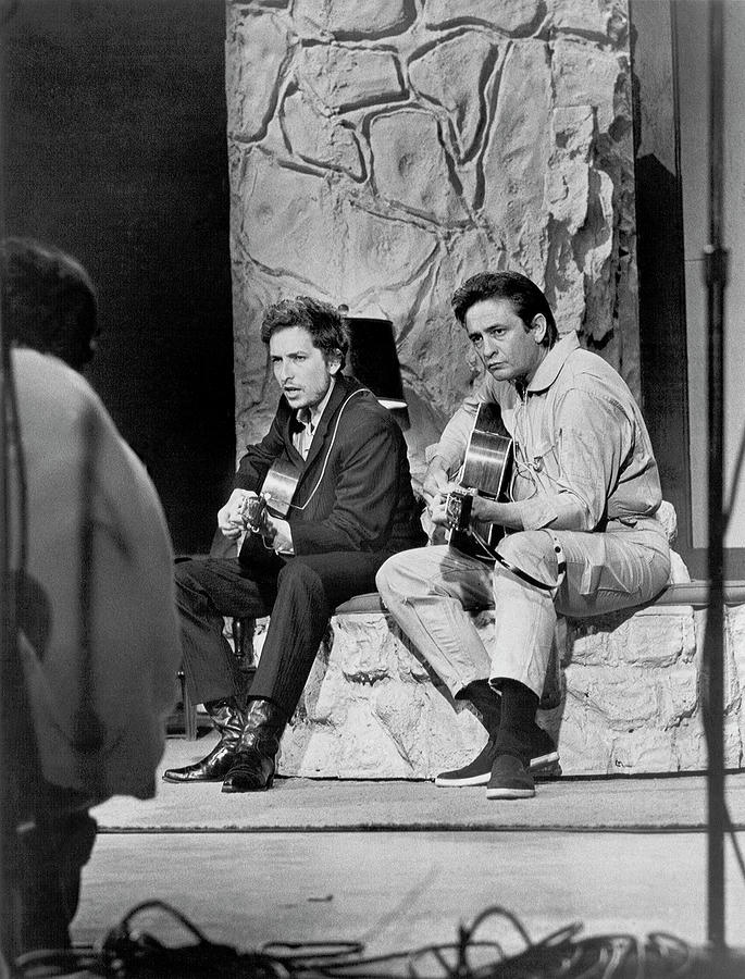 Bob Dylan & Johnny Cash Photograph by Michael Ochs Archives