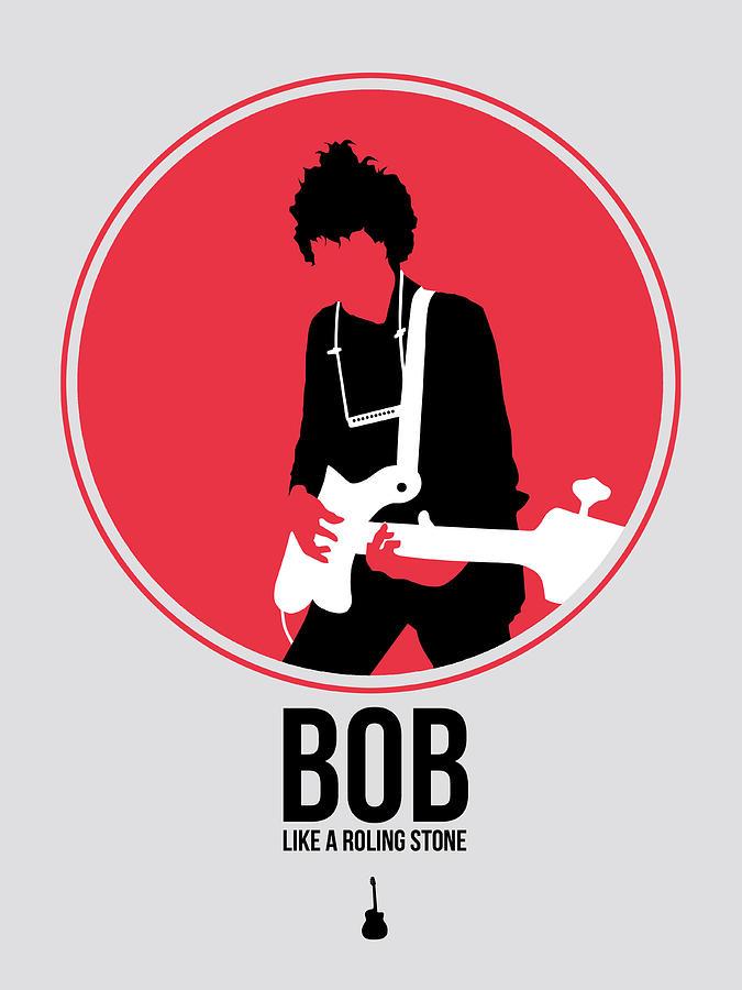 Bob Dylan Digital Art - Bob Dylan by Naxart Studio