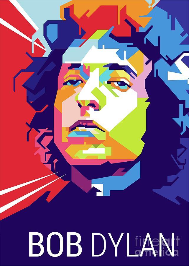 0213f4381 Wpap Digital Art - Bob Dylan Popart by Gilar Artoholic
