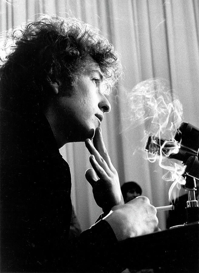 Bob Dylan Press Conference In Los Photograph by Michael Ochs Archives